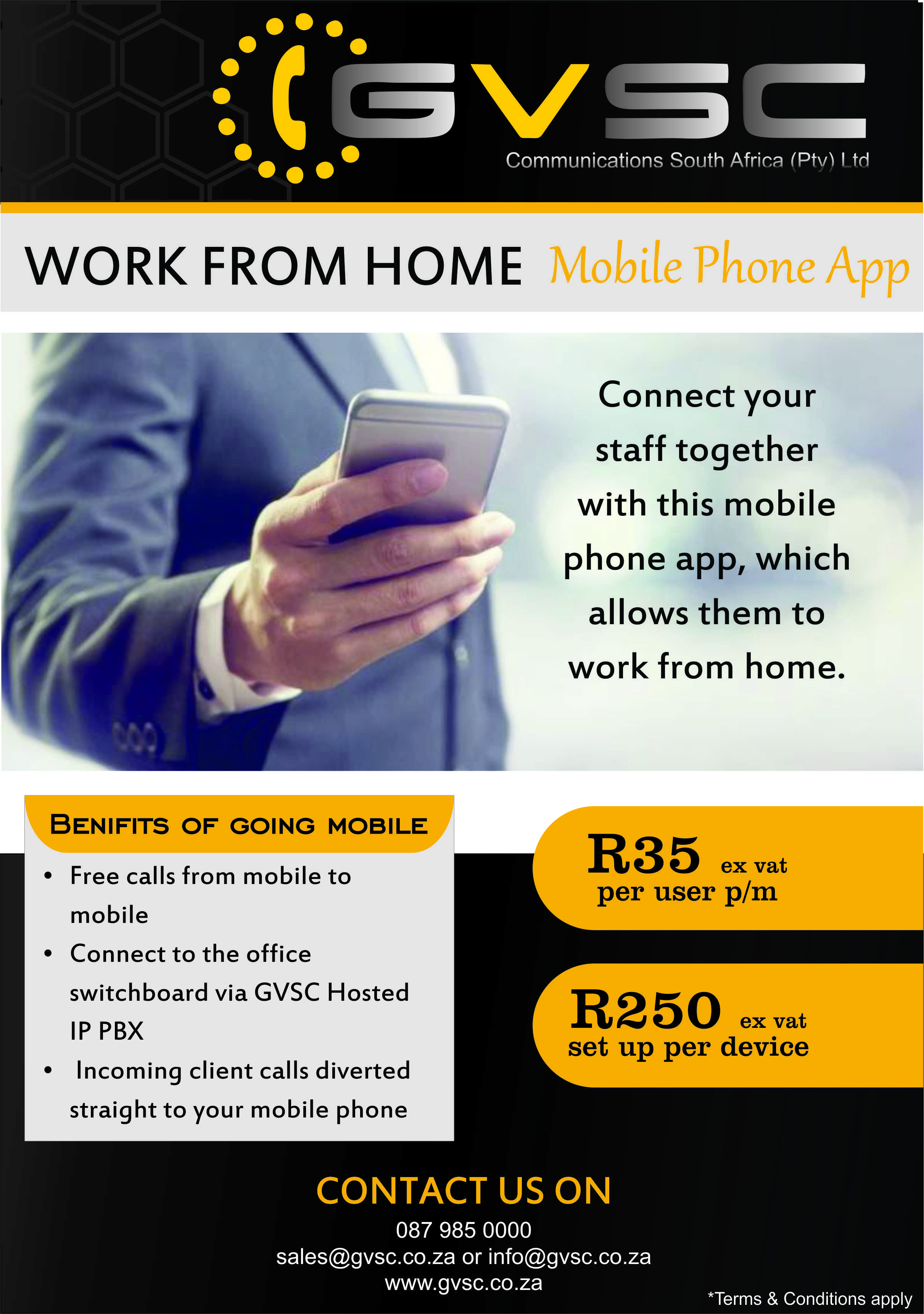 Flyer - Work From Home Mobile App-1