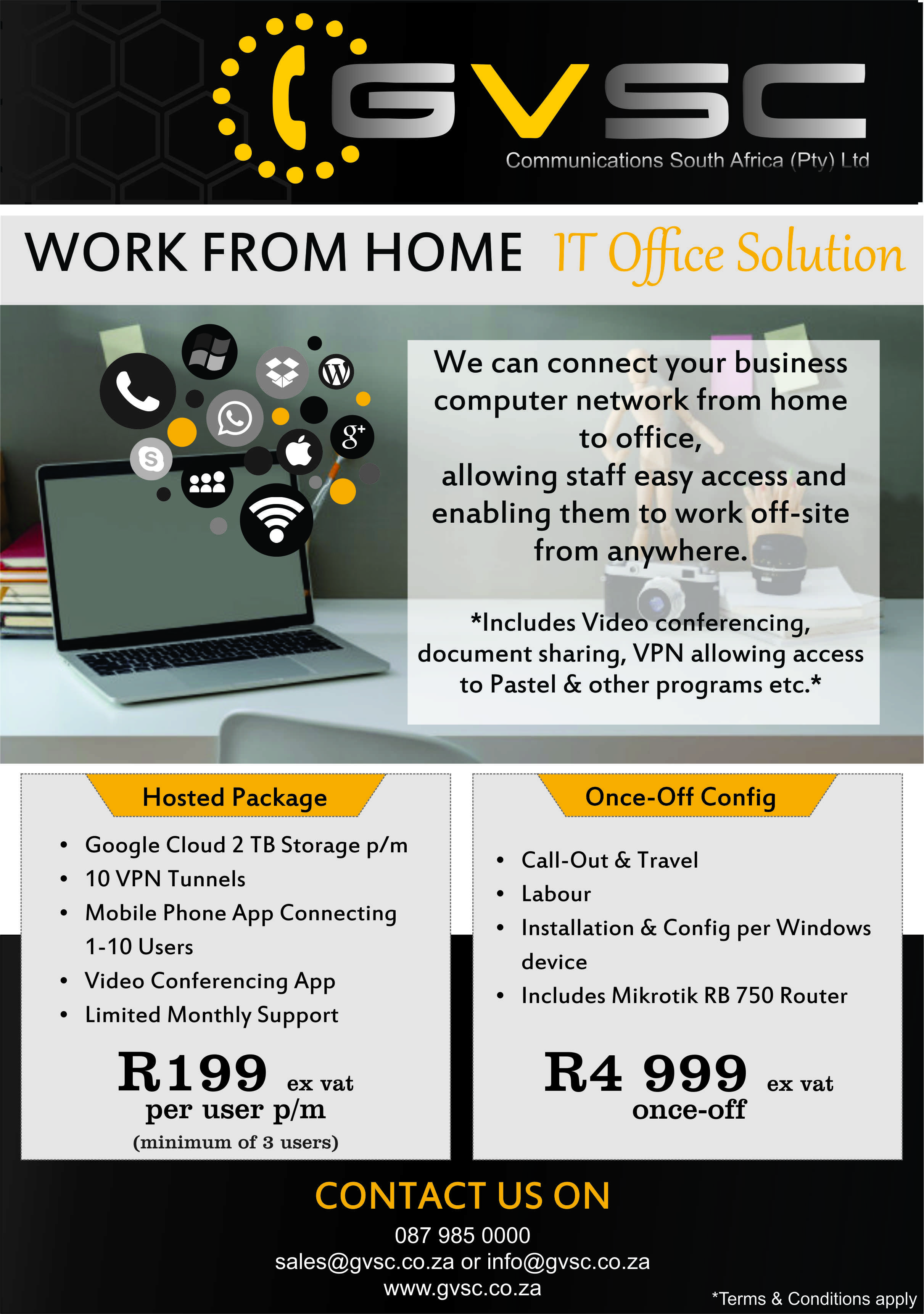 Flyer - Work From Home Office IT Solution
